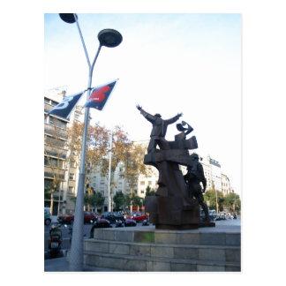 Summary Description: Public Art in Barcelona. Los  Postcard