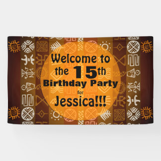Summer 15th Birthday Party Personalized Banner