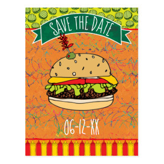 Summer BBQ Save the Date Invitation Postcard