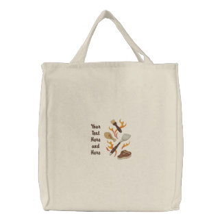 Summer BBQ Time Embroidered Tote Bag