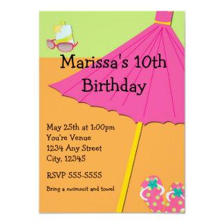 Summer Beach Fun Birthday Party Invitation