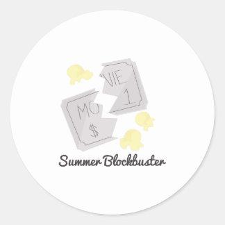Summer Blockbuster Round Stickers