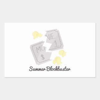 Summer Blockbuster Rectangle Sticker
