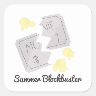 Summer Blockbuster Square Sticker