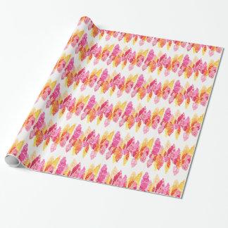 Summer Blooms - Floral Snapdragons - Pink, Orange Wrapping Paper