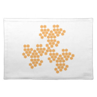 summer blossom - spread - orange placemat