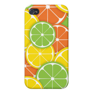 Summer citrus fruit lemon orange lime slices iPhone 4 cover
