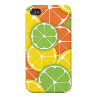 Summer citrus fruit lemon orange lime slices cover for iPhone 4