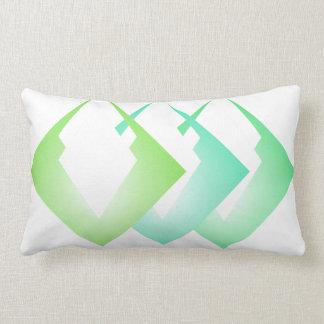 Summer Colours Travel Beach Decor Turquoise Lime Lumbar Cushion
