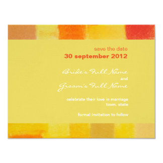 Summer confetti Wedding Save the Date Card