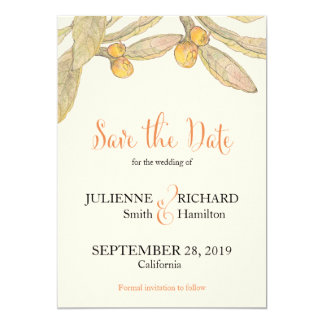 Summer Day | Vintage Botanical Save the Date Card