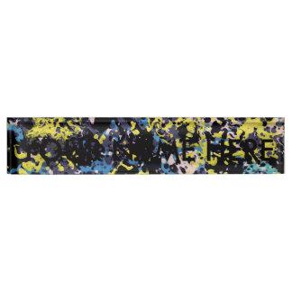 SUMMER DAZE (an abstract art design) ~ Name Plate