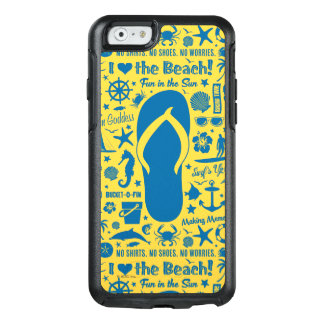 Summer Flip Flop Pattern OtterBox iPhone 6/6s Case