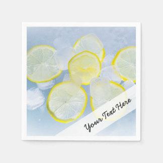 summer fresh lemon ice soda drink photograph disposable serviettes