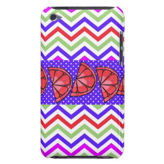 Summer Fun Grapefruit Slice Chevron Polka Dots Barely There iPod Cases
