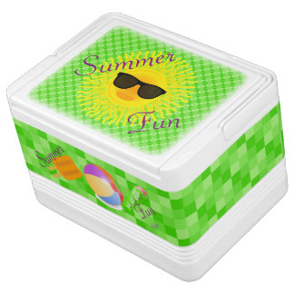 Summer Fun in the Sun Igloo 12 Can Cooler Chilly Bin