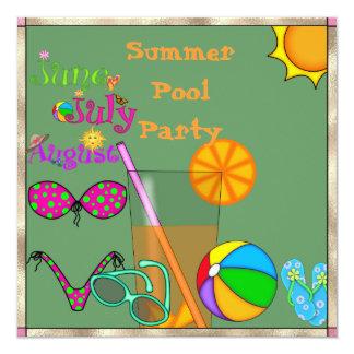 Summer Fun Pool Party INVITATION