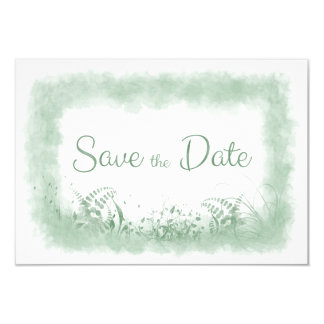 Summer Green Wedding Save the Date Announment Card