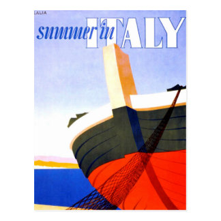 Summer in Italy Vintage Travel Postcard
