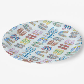 Summer is for Sandals Paper Plate 9 Inch Paper Plate