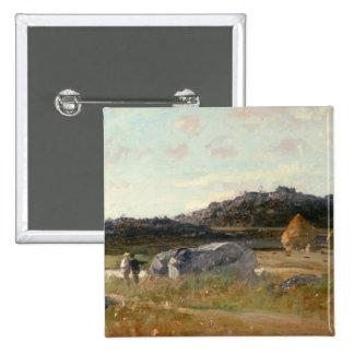 Summer Landscape 2 15 Cm Square Badge