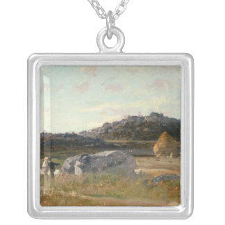 Summer Landscape 2 Silver Plated Necklace