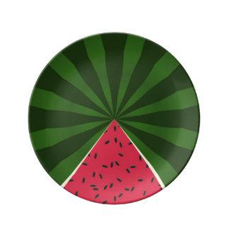 Summer Melon Watermelon Summertime Plate Porcelain Plates