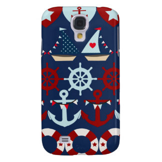 Summer Nautical Theme Anchors Sail Boats Helms Samsung Galaxy S4 Cases