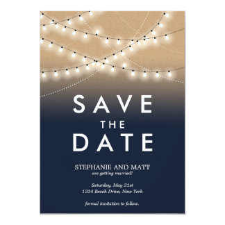 Summer Night Lights Save the Date  | Weddings Card