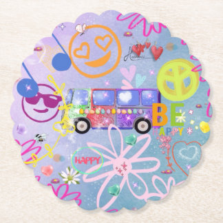 summer of love - the 60s paper coaster