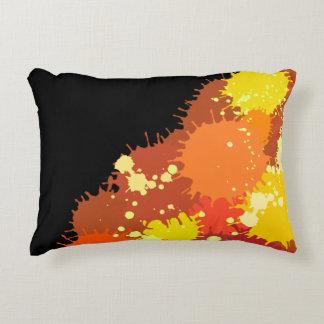 Summer Orange Red Colorful Splash Design Decorative Cushion
