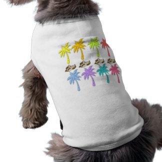 Summer Palm Trees pet t-shirts Sleeveless Dog Shirt