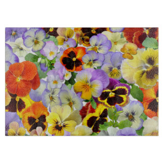 Summer Pansies #2 Cutting Board