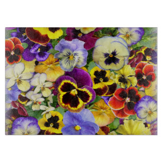 Summer Pansies Cutting Board