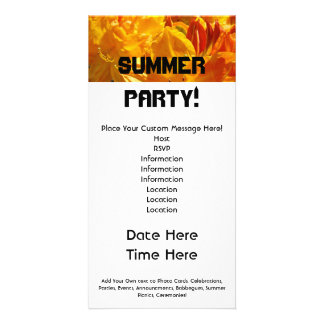 Summer Party! invitations Celebrations Picnics BBQ Personalised Photo Card