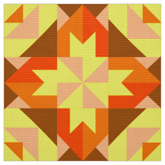 Summer Peaches Pinwheel Fabric