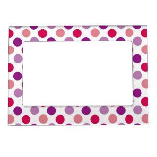 Summer Polka Dots Picture Frame Magnets