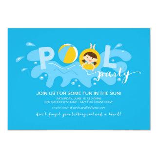 Summer Pool Party 13 Cm X 18 Cm Invitation Card