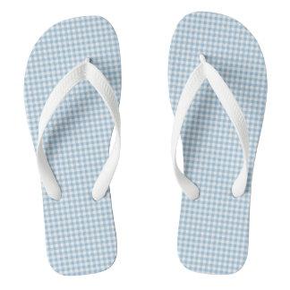 Summer-Sail-Gingham-Blue (c) Unisex_Multi-Styles Jandals