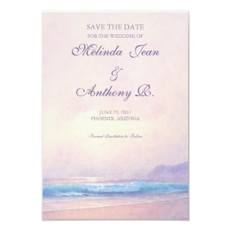 Summer Sea Save the Date 3.5 x 5 Card