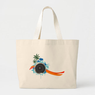 Summer Sound - Beach Music DJ Speaker Large Tote Bag