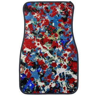 SUMMER SPLASH! (an abstract art design) ~ Car Mat