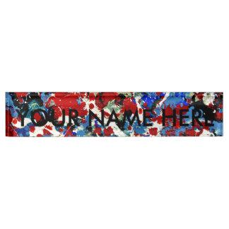 SUMMER SPLASH! (an abstract art design) ~ Name Plate