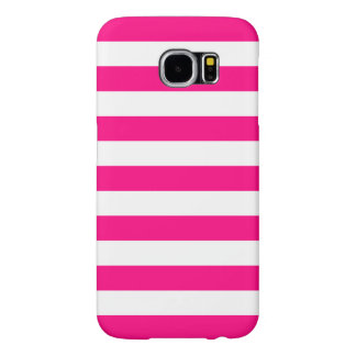 Summer Stripes Samsung Galaxy S6 Case in Hot Pink