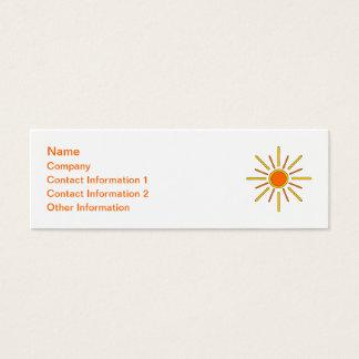 Summer sun. Yellow and orange. Mini Business Card