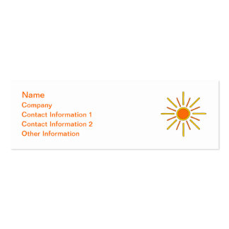 Summer sun. Yellow and orange. Pack Of Skinny Business Cards
