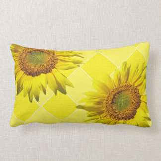 Summer Sunflower Yellow Pattern Lumbar Pillow