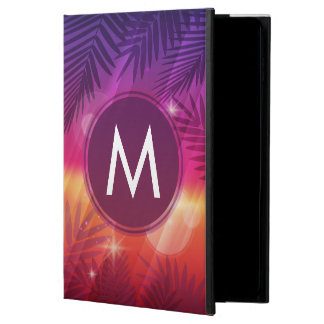 Summer Sunset Palm Trees Monogram Purple Orange Powis iPad Air 2 Case