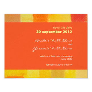 Summer tango Wedding Save the Date Card
