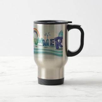 Summer theme stainless steel travel mug